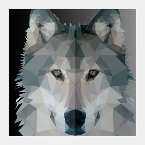 Square Art Prints, Poly Wolf Square Art Prints | Artist : Shashanka Beshra, - PosterGully