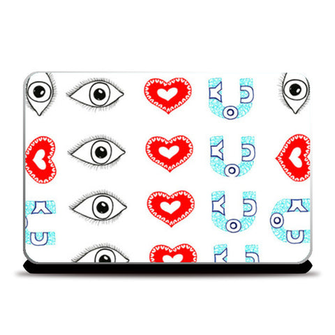 Eye love you Laptop Skins | Artist : Amulya Jayapal