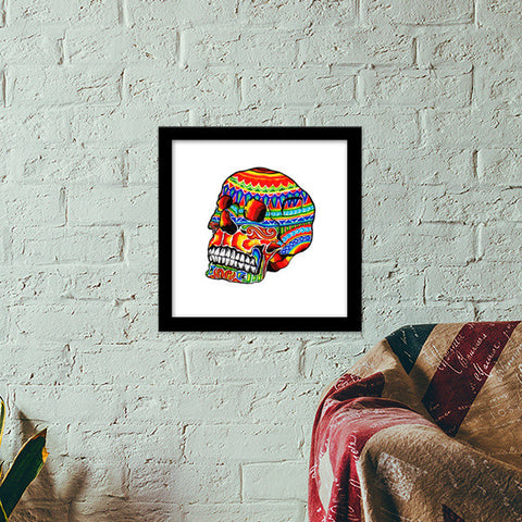 colorful life (after death) Premium Square Italian Wooden Frames | Artist : amit kumar