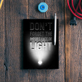 Importance of light Notebook | Artist : Abhishek Faujdar