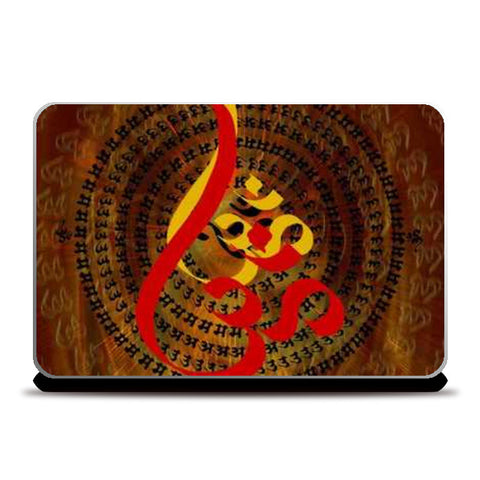 Ohm Red Laptop Skins | Artist : Rupam Shah