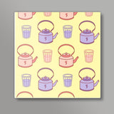 Abstract Teapot & tea cup  Square Art Prints | Artist : Nishit Shah