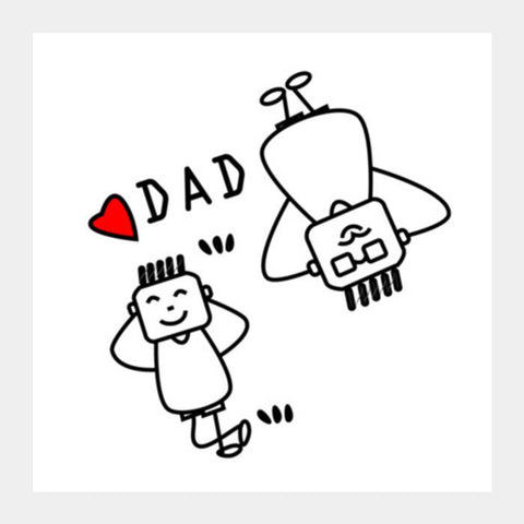 PosterGully Specials, LUV U DAD Square Art Prints | Artist : vazir singh, - PosterGully