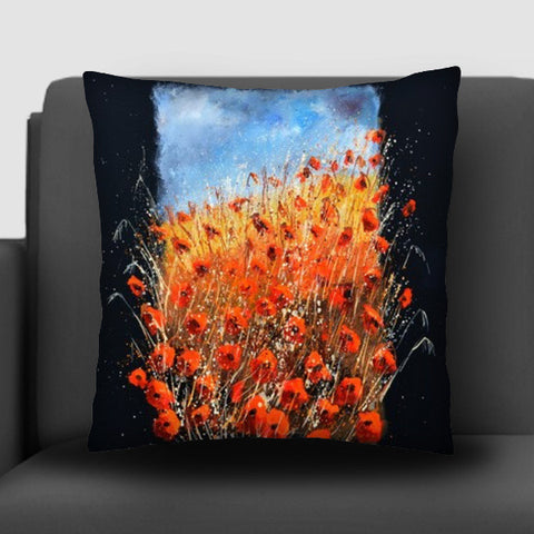 bursting poppies Cushion Covers | Artist : pol ledent