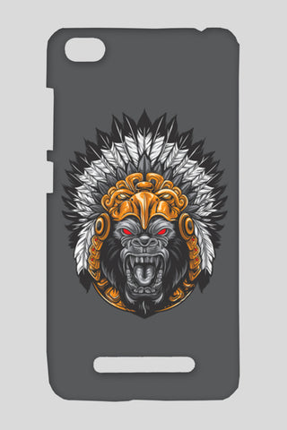 Gorilla Wearing Aztec Headdress Redmi 4A Cases | Artist : Inderpreet Singh