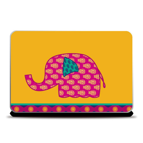 Laptop Skins, Ethnic Elephant Laptop Skins | Artist : marika, - PosterGully
