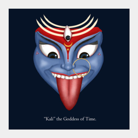"Square Art Prints, Kali ""The Goddess of Time"" Square Art Prints 