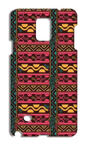 Abstract geometric pattern african style Samsung Galaxy Note 4 Cases | Artist : Designerchennai