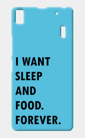 SLEEP AND FOOD. Lenovo K3 Note Cases | Artist : Shruti aggarwal