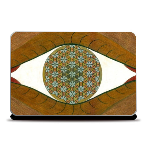 Laptop Skins, The Flower of Life within the Third Eye Laptop Skins | Artist : Luke's Art Voyage, - PosterGully