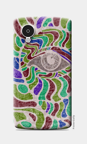 abstract eye colorful vector illustration Nexus 5 Cases | Artist : Simran Sain