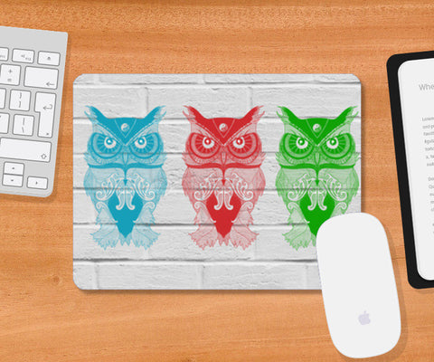 3 Wise Owls Mousepad | Artist : C-zure