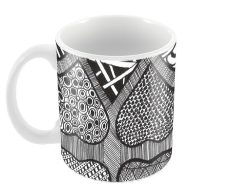 Prints in Hearts Coffee Mugs | Artist : Aniket Mitra