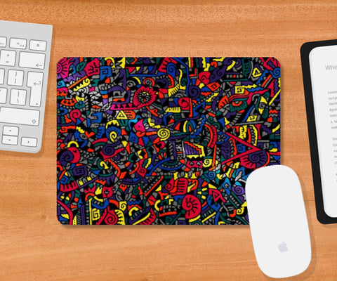 Mousepad, Disco Zenscrawl Mousepad | Meghnanimous, - PosterGully