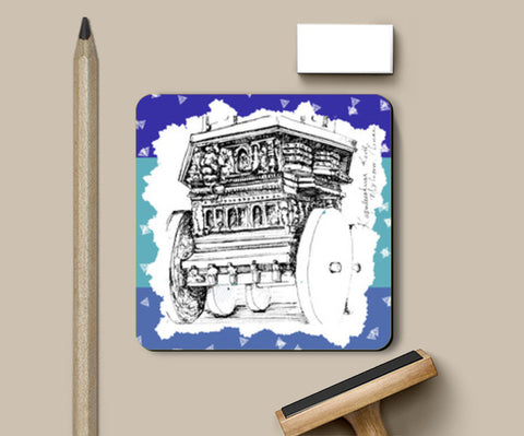 Coasters, Made in Mylapore, Evening Hues Coaster | Artist: Poornima Kumar, - PosterGully