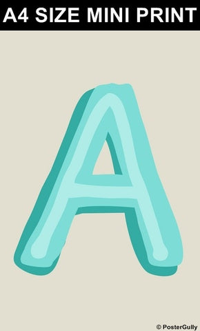 Mini Prints, A-Alphabets | Mini Print, - PosterGully