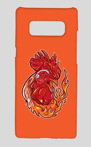 Rooster On Fire Samsung Galaxy Note 8 Cases | Artist : Inderpreet Singh
