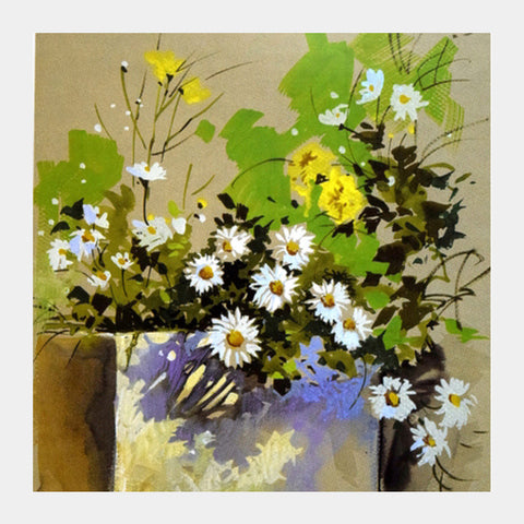 Flower Still Life Square Art Prints | Artist : Rahul Tanwar
