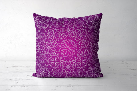 Abstract Flowers Cushion Covers | Artist : Madhumita Mukherjee