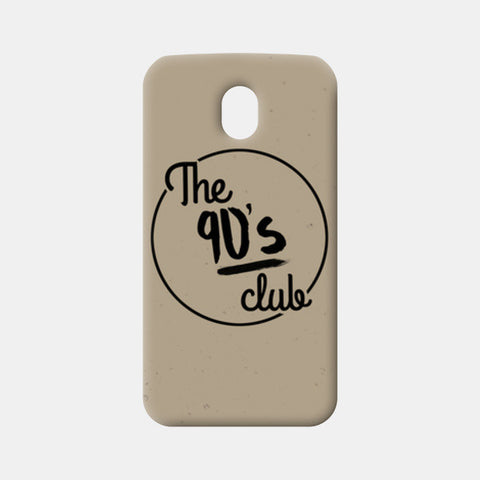 The 90's Club Retro Moto G3 Cases | Artist : Tushar Gupta