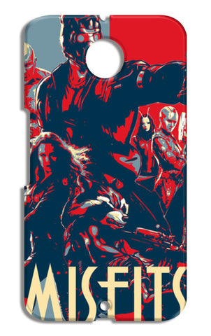 Guardians Of Galaxy Misfits Motorola Nexus 6 Cases | Artist : LinearMan