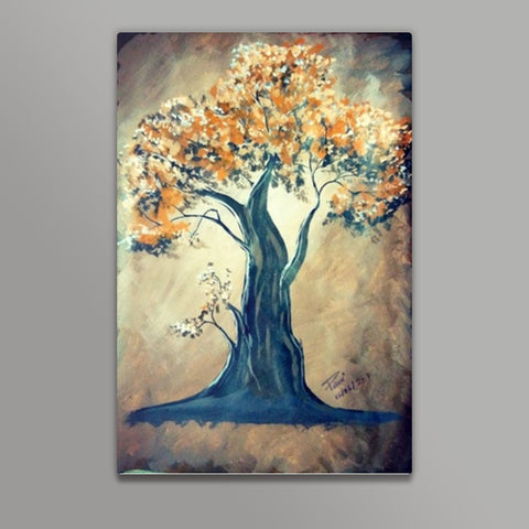 A tree Painting Metal Prints | Artist : Pallavi Rawal