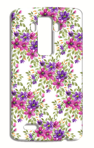 Colorful Pink Purple Blooms Floral Spring Pattern  LG G4 Cases | Artist : Seema Hooda