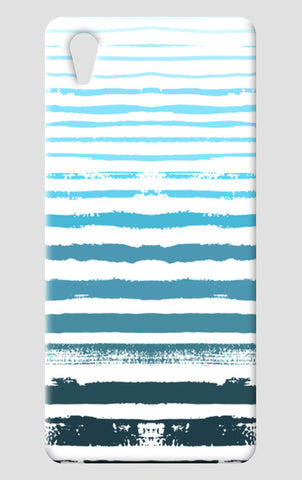 Uneven Blue Stripes One Plus X Cases | Artist : Amantrika Saraogi
