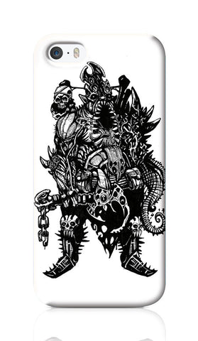 iPhone Cases, Cranium Overlord Line Art iPhone 5/5S Case | Artist: Vinoth Rajendran, - PosterGully