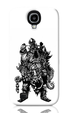 Samsung S4 Cases, Cranium Overlord Line Art Samsung S4 Case | Artist: Vinoth Rajendran, - PosterGully