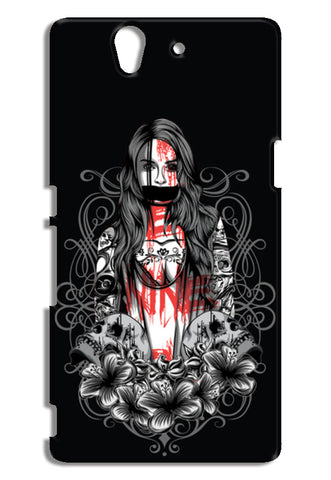 Girl With Tattoo Sony Xperia Z Cases | Artist : Inderpreet Singh