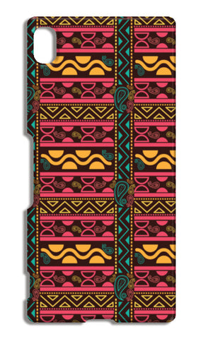 Abstract geometric pattern african style Sony Xperia Z4 Cases | Artist : Designerchennai
