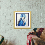 Premium Square Italian Wooden Frames, Wolf Blue Premium Square Italian Wooden Frames | Artist : Sukanya Chakraborty, - PosterGully - 5