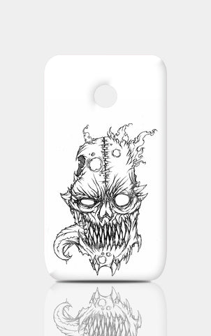 Moto E Cases, Flaming Skull Line Art Moto E Case | Artist: Vinoth Rajendran, - PosterGully