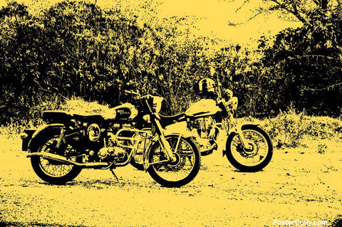 Brand New Designs, Enfield Bike Artwork | Artist: Louis Olakkengal, - PosterGully - 1
