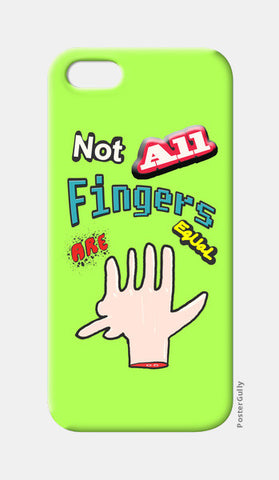 Not All Fingers Are Equal (Green Back) iPhone 5 Cases | Artist : Nitin Kapoor