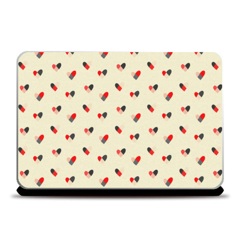 Laptop Skins, Hearts Pattern Laptop Skins | Artist : Tanvi C, - PosterGully