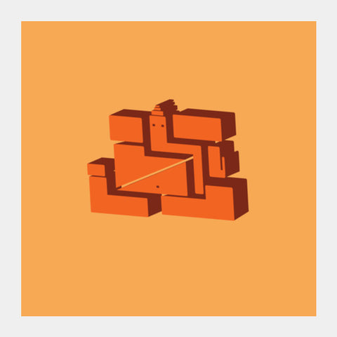 Square Art Prints, 3d minimalist vinayak Square Art Prints | Artist : desiGuy, - PosterGully