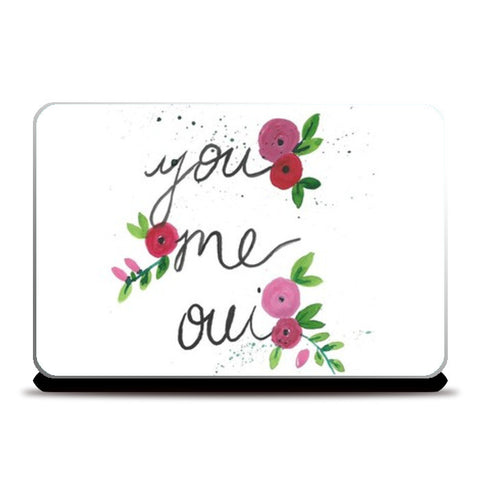 You, me, oui Laptop Skins | Artist : Trippy Trap