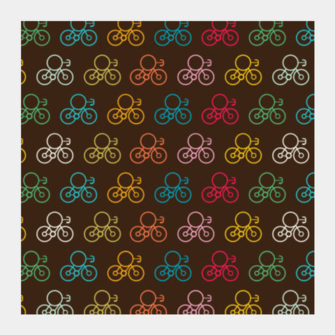 Seamless Bicycles  Square Art Prints PosterGully Specials
