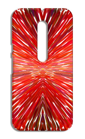 Abstract Red Burst Modern Design Moto X Style Cases | Artist : Seema Hooda