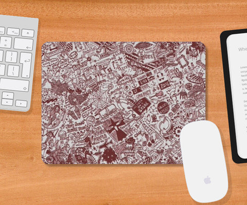 Mousepad, Endless doodle Mousepad | Artist : Sukanya Chakraborty, - PosterGully