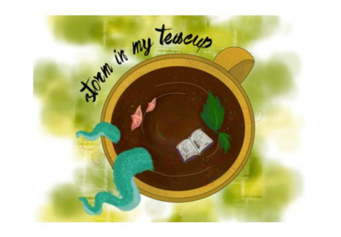 PosterGully Specials, Storm in my Teacup Wall Art  | Artist : Vaishnavi Agarwal, - PosterGully