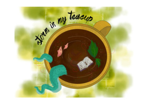 Storm in my Teacup Wall Art  | Artist : Vaishnavi Agarwal