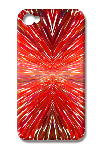 Abstract Red Burst Modern Design iPhone 4 Cases | Artist : Seema Hooda