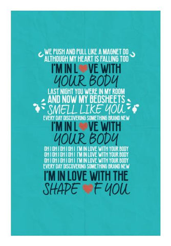 PosterGully Specials, Shape of You by Ed Sheeran Wall Art | Artist : Arif Ahmad, - PosterGully