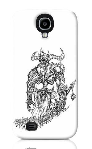 Samsung S4 Cases, Skeleton King Line Art Samsung S4 Case | Artist: Vinoth Rajendran, - PosterGully