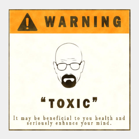 Square Art Prints, Breaking Bad Toxic Square Art | Artist: Shivam Dhuria, - PosterGully