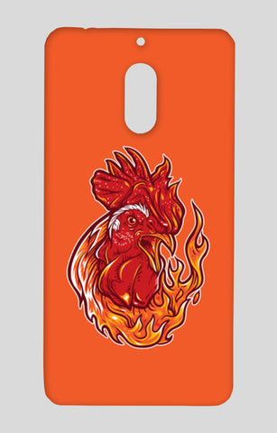 Rooster on fire Nokia 6 Cases | Artist : Inderpreet Singh