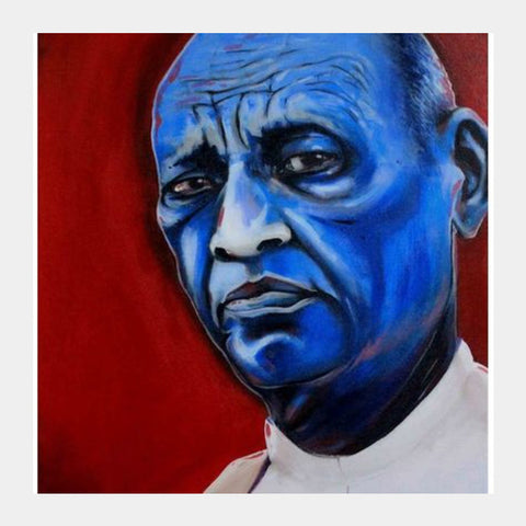Square Art Prints, Sardar Patel - Painting Square Art Prints | Artist : Smeet Gusani, - PosterGully